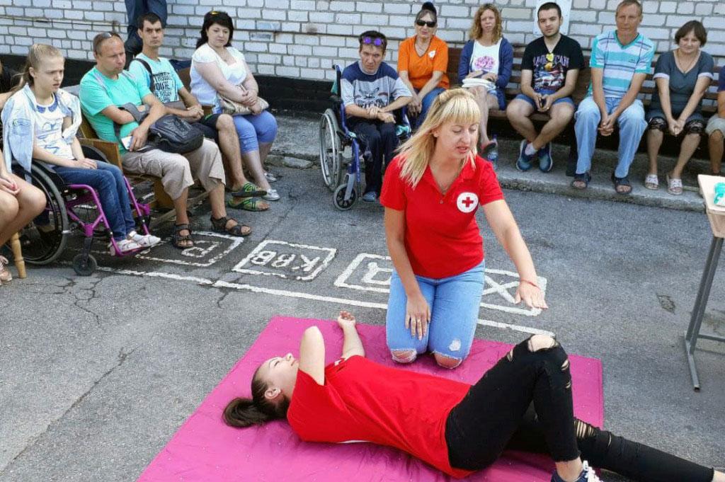 Нікопольський район: людей з інвалідністю навчали діям у екстрених випадках