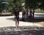 У Херсоні пішохідні переходи адаптують для незрячих і слабозорих людей (ВІДЕО). херсон, вади зору, незрячий, слабозорий, тактильна плитка