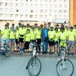 Велосипедисти на тандемах вирушили у велопробіг з Івано-Франківська до Берліна