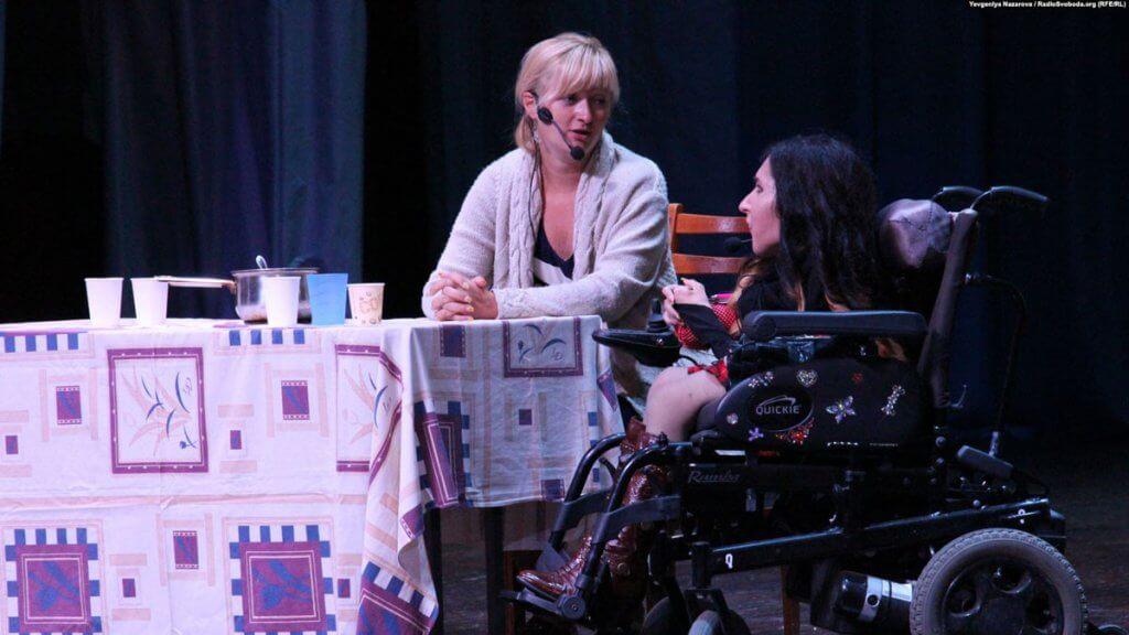 У Запоріжжі інклюзивна театральна трупа представила новий спектакль. запоріжжя, марианна смбатян, світло в темряві, спектакль, інвалідність