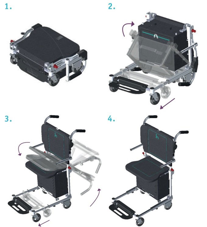 Инженер представил уникальный сборный чемодан-коляску. traveler chair, ричард уилльямс, авиакомпания, кресло-коляска, чемодан