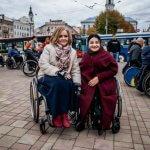 Світлина. Олена Бабешко-Павленко: «Такі заходи вкрай необхідні задля натхнення та об'єднання жінок з інвалідністю на боротьбу за рівноправне життя, яке не обмежується їх інвалідністю!». Закони та права, інвалідність, семінар, Чернівці, флешмоб, Олена Бабешко-Павленко