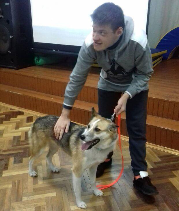 Зіркові собаки відвідали київських дітей з інвалідністю. дзиґа, київ, укроп, канистерапия, собака
