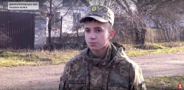 На Дніпропетровщині підлітка, який влітку постраждав від вибуху снаряда, нагородили волонтери. олександр гаркуш, вибух, нагорода, снаряд, інвалідність