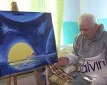 Чоловік, від якого відмовились рідні, пише картини у лікарняній палаті: зворушливе відео. ігор євтухов, картина, лікарня, художник, інсульт
