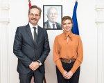 Олена Зеленська та Посол Австрії в Україні обговорили співпрацю у розбудові безбар'єрного середовища. австрія, гернот пфандлер, олена зеленська, партнерство біарріц, співпраця