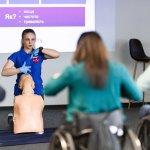 Одесситы впервые в Украине обучили первой помощи людей на инвалидных колясках (ФОТО)