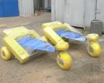 Черноморск приобрёл оборудование для купания в море людей с инвалидностью (ВИДЕО). черноморск, инвалидность, коляска для плавания, море, пляж