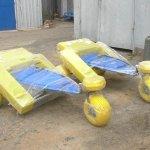 Черноморск приобрёл оборудование для купания в море людей с инвалидностью (ВИДЕО)