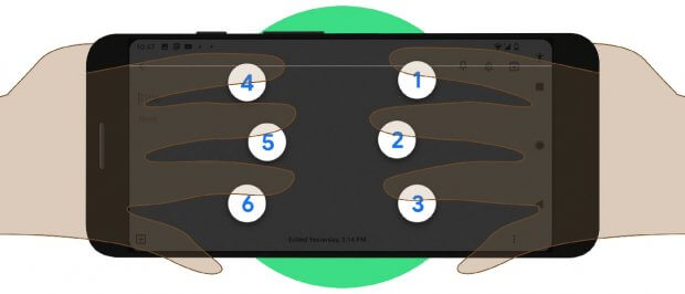 Google встроила клавиатуру Брайля прямо в Android. google, talkback, ос android, клавиатура брайля, нарушение зрения