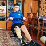 Світлина. Волинські паралімпійські спортсмени показали тренування в умовах карантину. Спорт, змагання, спортсмен, карантин, тренування, Волинь