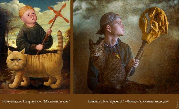 По следам Изоизоляции: в Одессе особенные дети воссоздали сюжеты картин великих художников. одесса, арт-терапия, инвалидность, фотокартина, фотопроект