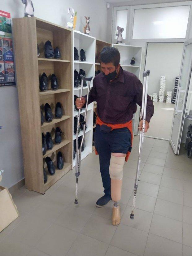 Безхатько з Вінниці отримав протез для втраченої кінцівки. безхатько, кінцівка, протез, протезування, інвалідність