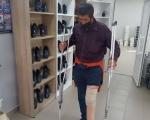 Безхатько з Вінниці отримав протез для втраченої кінцівки (ВІДЕО). безхатько, кінцівка, протез, протезування, інвалідність