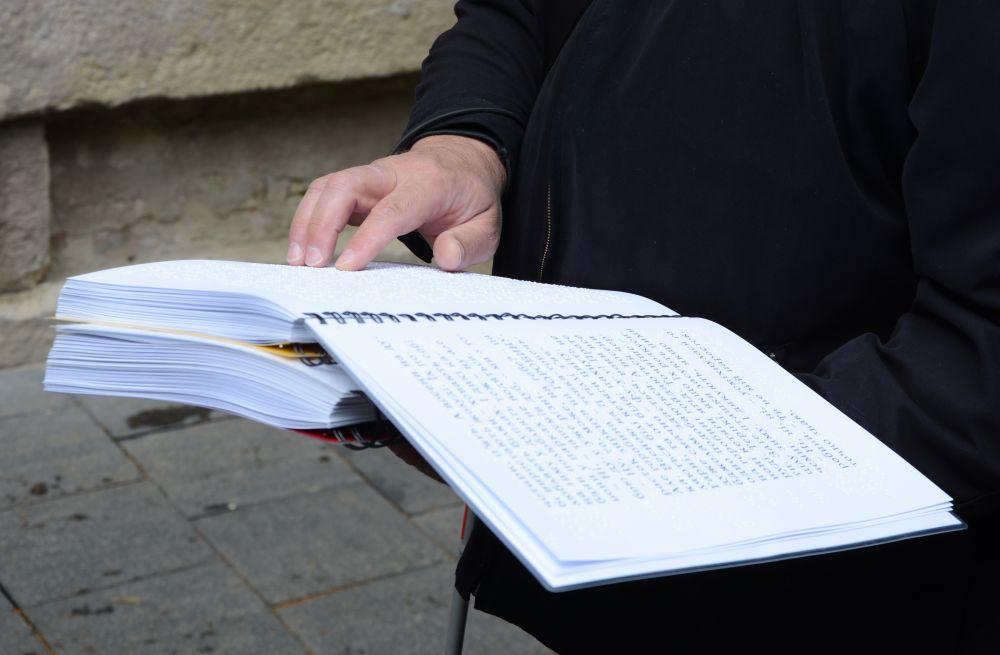 У Львові створили 220 унікальних книжок шрифтом Брайля для дітей (ФОТО, ВІДЕО). львів, бібліотека, книга, незрячий, шрифт брайля