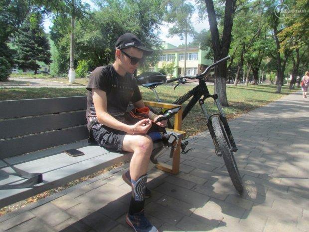 Как потерять ногу и зрение, но не мечту. История мариупольца Руслана Шилова. руслан шилов, велосипед, диабет, зрение, протез