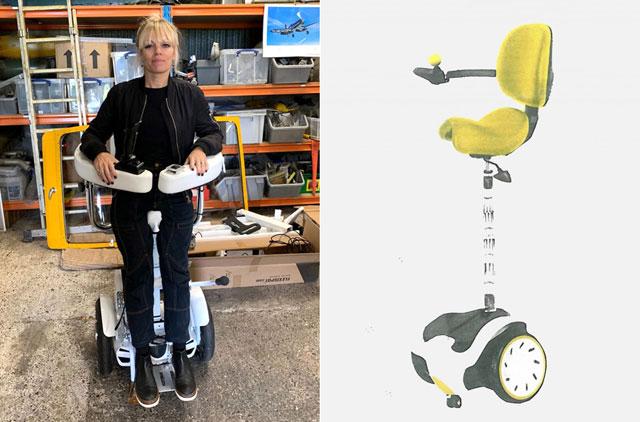 Архітектор створила інвалідний візок-сіґвей, на якому можна пересуватися стоячи (ВІДЕО). suzanne brewer, walking wheelchair, сіґвей, інвалідний візок, інвалідність