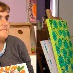 Малюють картини. Прикарпатки з інвалідністю Любов Оробець та Уляна Белей (ФОТО, ВІДЕО)