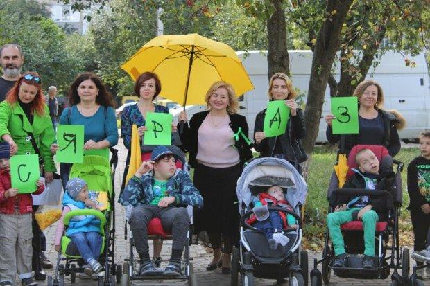 «Ми –рівні, ми – такі як усі!». всесвітній день інформування про дцп, луцьк, діагноз, флешмоб-хода ми-рівні ми-такі як усі!, інвалідність
