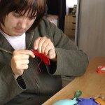 Створює вироби з фетру. Прикарпатка з інвалідністю Яна Хазанюк (ФОТО, ВІДЕО)