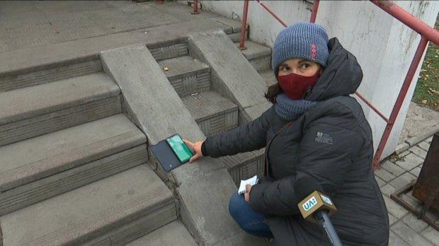 """""""Водії давали жилетки, щоб було видно"""". Сумчани з інвалідністю показали, як пересуваються Троїцькою. суми, доступність, облаштування, перевірка, інвалідність"""