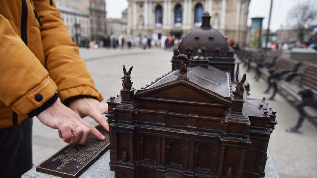 Люди із вадами зору зможуть на дотик побачити красу архітектури Львівської опери (ФОТО). львівська опера, вади зору, модель, проект, театр