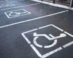 У Полтаві розмістили оригінальні написи, адресовані до порушників паркування. полтава, звернення, паркування, порушник, інвалідність