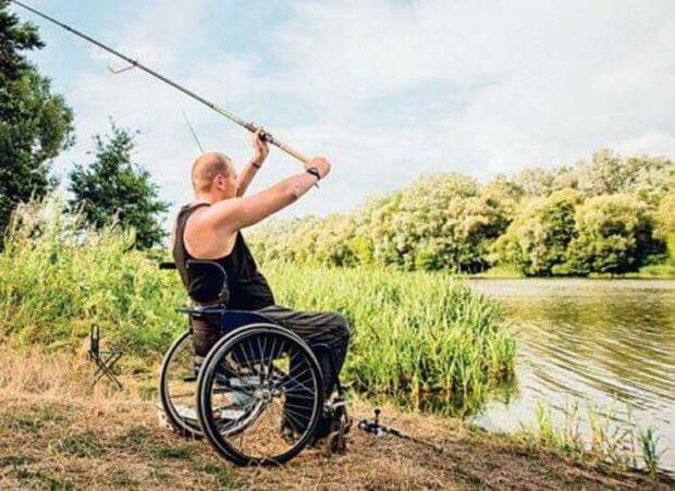 Андрій на візку – чемпіон України зі спортивної риболовлі. андрій щербацький, змагання, риболовля, чемпіон україни, інвалідність