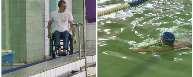 Паралімпійський чемпіон вчить плаванню дітей з інвалідністю. мариуполь, олександр комаров, паралімпійський чемпіон, плавання, інвалідність