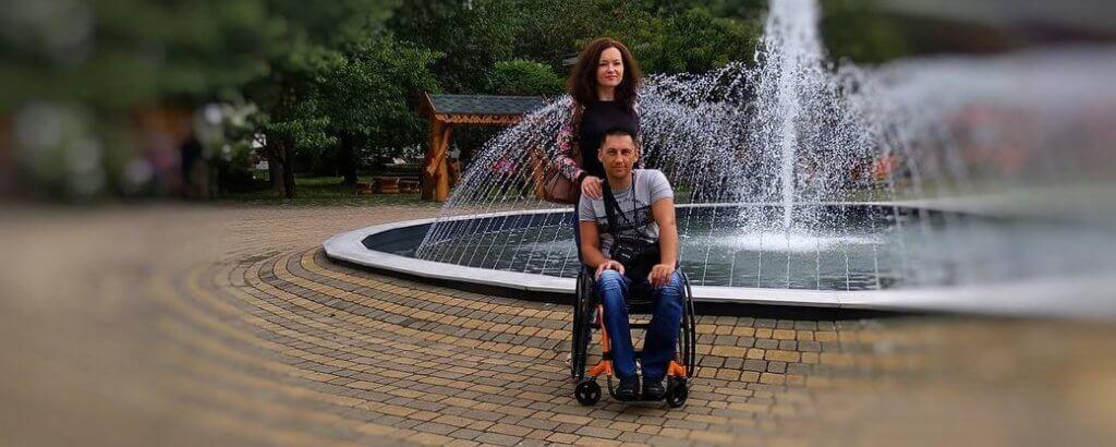 Її збило авто, він зламав хребет. Кримська історія кохання рівненських Петроцюків (ФОТО). кохання, подружжя петроцюків, санаторій, спинальник, інвалідність