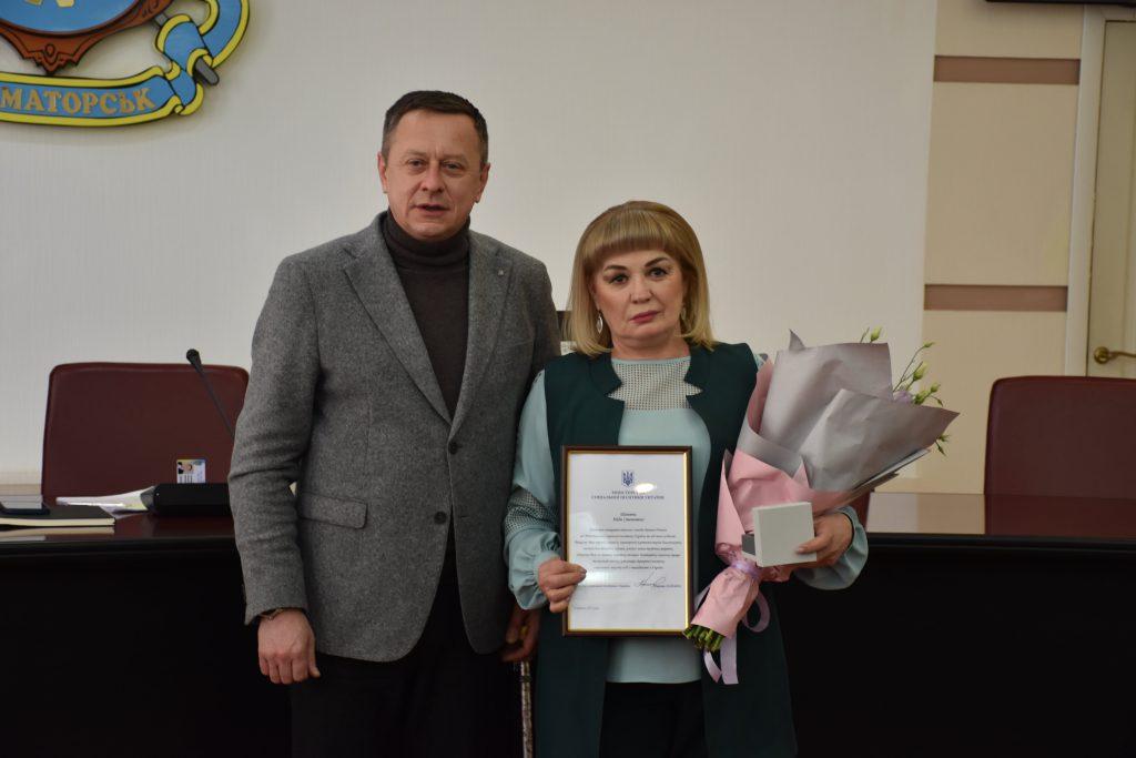 Надії Паламарчук присвоєно звання «Почесного громадянина Краматорська». надія паламарчук, почесний громадянин краматорська, звання, нагорода, інвалідність