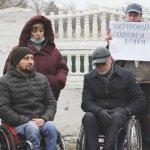 Збережіть наш санаторій! Люди з інвалідністю мітингували на Словкурорті (ВІДЕО)