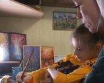 Діагноз – не перешкода для творчості. Черкащанка з ДЦП опанувала інтуїтивний живопис (ФОТО, ВІДЕО). дцп, марія, картина, інвалідність, інтуїтивне малювання