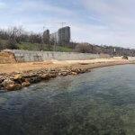 Світлина. На одеському «Дельфіні» облаштовують пляж для осіб з інвалідністю. Безбар'ерність, інвалідність, пандус, Одеса, ремонт, пляж Дельфін