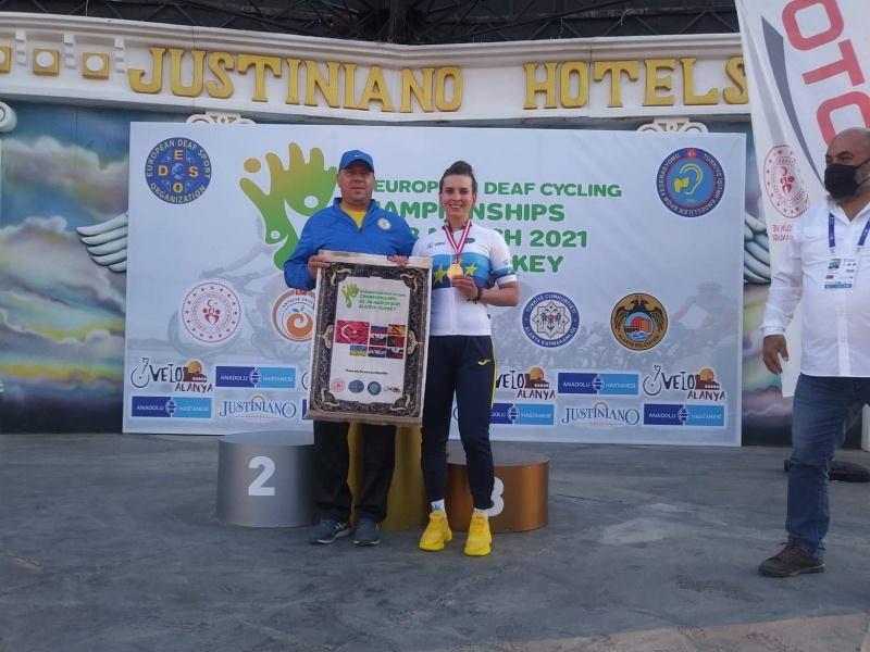 Буковинка стала чемпіонкою Європи з велоспорту. єлисавета топчанюк, вади слуху, велоспорт, чемпіонат європи, чемпіонка європи