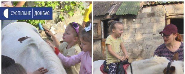 У Маріуполі для дітей з інвалідністю проводять безкоштовні сеанси іпотерапії. дцп, мариуполь, аутизм, інвалідність, іпотерапія