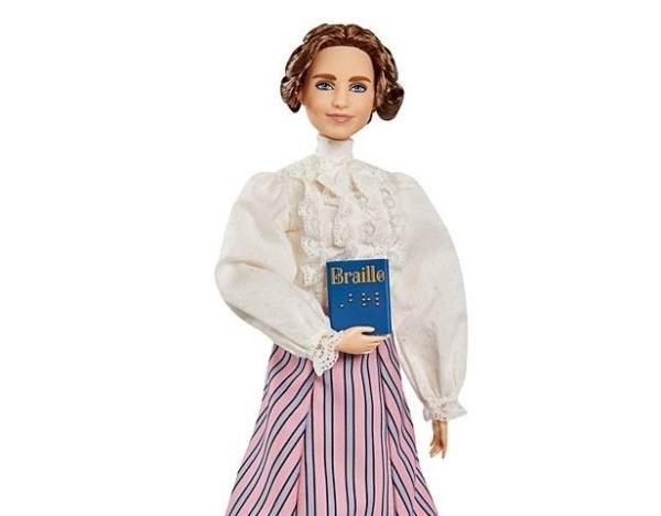 Mattel випустила ляльку Барбі на честь сліпоглухої письменниці Хелен Келлер (ФОТО). mattel, хелен келлер, лялька барбі, сліпоглуха письменниця, інвалідність
