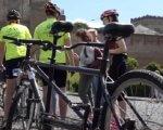 У Луцьку стартував велопробіг за участю незрячих велосипедистів (ВІДЕО). бачу можу допоможу, луцьк, велопробіг, велосипедист, незрячий