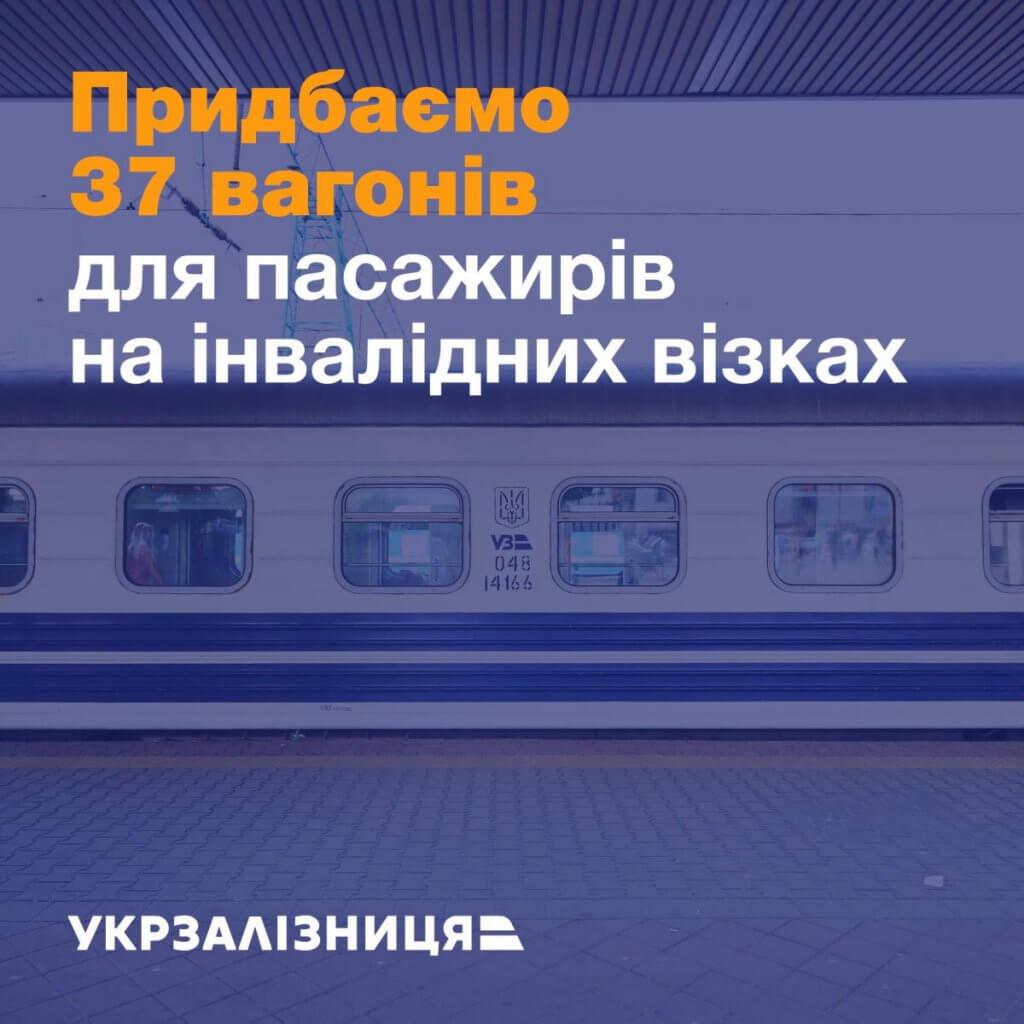 Укрзалізниця придбає 37 пасажирських вагонів для людей, які пересуваються на інвалідних візках. вагон, перевезення, укрзалізниця, інвалідний візок, інвалідність