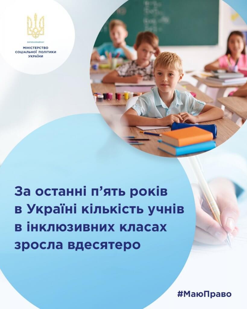 За останні п'ять років в Україні кількість учнів в інклюзивних класах зросла вдесятеро. ірц, освіта, особливими освітніми потребами, інклюзивний клас, інклюзія